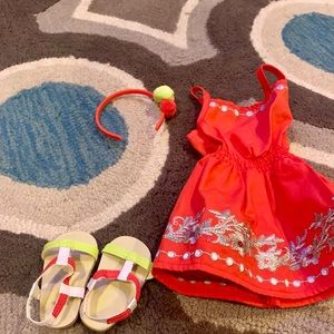 American Girl Dresses - American Girl Truly me matching girl and set